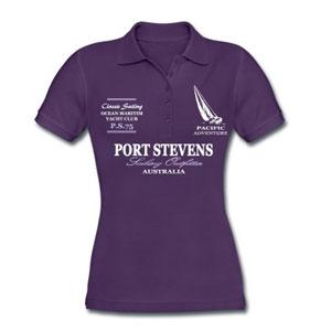 Maritime Sailing Poloshirt mit Segelboot für Frauen