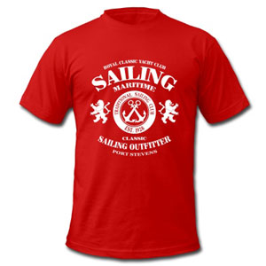 Maritimes Segel-T-Shirt