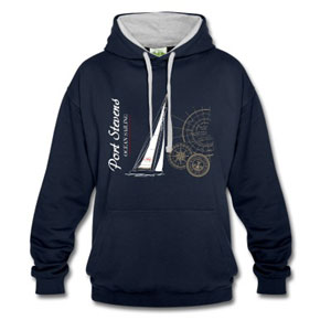 Maritime Sailing Hoodie with Sailingboat for woman & men