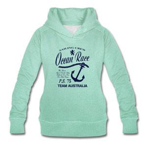 Maritime Sailing Hoodie mit Anker für Frauen
